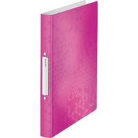 Ringbuch Leitz 4257 WOW, A4, 2-Ringe, Ringdurchmesser: 25mm, pink metallic