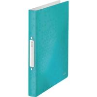 Ringbuch Leitz 4257 WOW, A4, 2-Ringe, Ringdurchmesser: 25mm, eisblau metallic