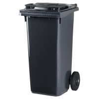 Müllcontainer Rossignol 10060, mit 2 Rädern, Inhalt: 120 Liter, grau / grau