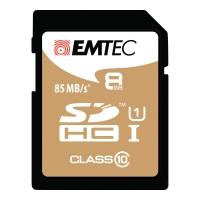 SDHC-Card Emtec Gold 570X ECMSD8GHC10GP, Speicherkarte, 8GB