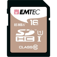 SDHC-Card Emtec Gold 200X/300X ECMSD16GHC10PH, Speicherkarte, 16GB