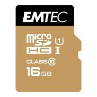 Micro SDHC-Card Emtec Gold 200X/300X ECMSDM16GHC10TC, Speicherkarte, 16GB