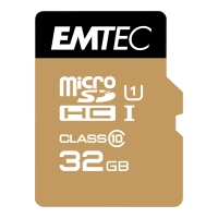 Micro SDHC-Card Emtec Gold 200X/300X ECMSDM32GHC10TC, Speicherkarte, 32GB