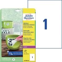 Folien-Etiketten Avery Zweckform L4775, 210x297mm, wetterfest, we, 20Bl/20St