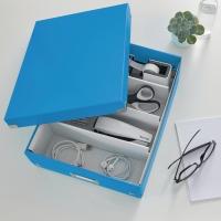 Archivbox Leitz 6058 WOW, Click n Store, Größe: M, Maße: 280x100x370mm, blau met