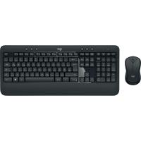 Tastatur-Set Logitech MK520, mit Maus, kabellos, schwarz