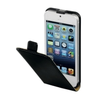Ledertasche für iPhone 5/5s Hama 118799 FlapCase, Leder, schwarz