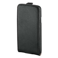 Ledertasche für iPhone 6 Hama 135000 FlapCase, Leder, schwarz