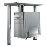 Tischhalterung Newstar CPU-D200, für PC, silber