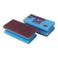 Reinigungsschwamm ScotchBrite 55, scheuert, blau, 6 Stück