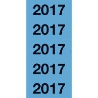 Avery Zweckform 43-217 Jahreszahlen, 60 x 26mm,  2017 , 20 Bogen/100 Stück, blau