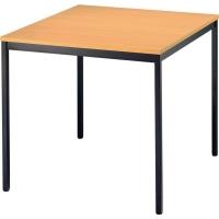 Konferenztisch Hammerbacher VVS08/6, Größe: 80 x 80 cm (L x B), buche