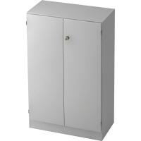 Schrank mit Holztüren, Maße: 127 x 80 x 42 cm, grau