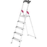 Aluklappleiter Hailo S150XXL, 5 Stufen, Tragkraft: bis 150kg