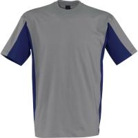 T-Shirt Kübler SHIRTS 5020, Größe: L, mittelgrau/kornblumenblau