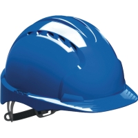Schutzhelm JSP EVO3 AJF160, aus HDPE, Gleitverschluss belüftet, blau