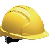 Schutzhelm JSP EVO3 AJE170, aus HDPE, Drehverschluss, unbelüftet, gelb