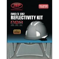 Reflektorstreifen JSP CR2, für EVO3 Helme, 10 Sets
