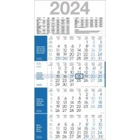 Viermonatskalender 2018 Bühner M4R1, 4 Monate / 1 Seite, 30x59cm, dunkelblau