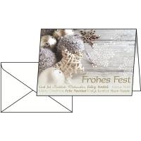 Weihnachtskarte Sigel DS034 Christmasfeeling, A6, 25 Stück