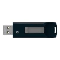 USB-Stick Emtec C450 Click, Speicherkapazität: 8GB, USB 2.0, schwarz/grau