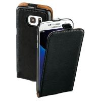 Hardcase für Samsung Galaxy S7 137720, Flap Case, mit Frontklappe, schwarz