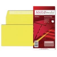 Briefumschläge C6/5 114x229mm ohne Fenster Haftklebung gelb 25 Stück