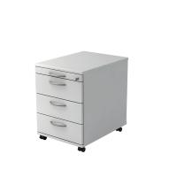 Rollcontainer VAC30-W-W, 3 Schübe, Größe: 59x42,8x58 cm, weiß