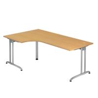 Schreibtisch mit Ecke, Größe: 200 x 120, buche