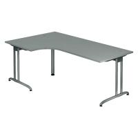Schreibtisch mit Ecke, Größe: 200 x 120, grau, Desktopservice