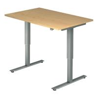 Schreibtisch VXMST12/3/S, höhenverstellbar, Größe: 120x80, ahorn, Desktopservice