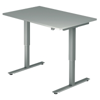 Schreibtisch VXMST12/5/S, höhenverstellbar, Größe: 120x80, grau, Desktopservice