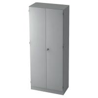 Schrank mit Garderobe, 1 Boden, Maße: 80x200,4x42cm, grau, Desktopservice