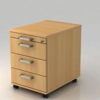 Rollcontainer VAC30-6-6, 3 Schübe, Größe: 59x42,8x58 cm, buche, Desktopservice