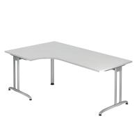 Schreibtisch mit Ecke, Größe: 200 x 120, weiß, Desktopservice