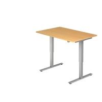 Schreibtisch VXMST12/6/S, höhenverstellbar, Größe: 120x80, buche, Desktopservice
