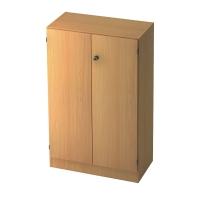 Schrank mit Holztüren, 2 Böden, Maße: 80x127x42cm, buche, Desktopservice