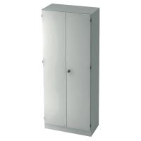 Schrank mit Holztüren, 4 Böden, Maße: 80x200,4x42cm, weiß, Desktopservice