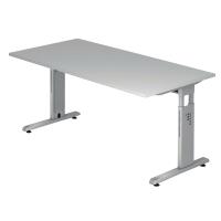 Schreibtisch VOS12-5, verstellbar, Größe: 120 x 80cm, grau, Montageservice