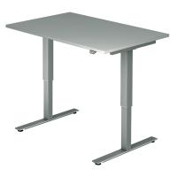 Schreibtisch VXMST12/5/S, höhenverstellbar, Größe: 120x80, grau, Montageservice