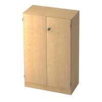 Schrank mit Holztüren, 2 Böden, Maße: 80x127x42cm, ahorn, Montageservice