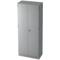 Schrank mit Garderobe, 1 Boden, Maße: 80x200,4x42cm, grau, Montageservice