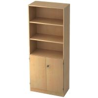 Regal mit kleinen Türen, 2 Böden, Maße: 80x200,4x42cm, ahorn, Montageservice