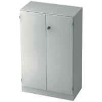 Schrank mit Holztüren, 2 Böden, Maße: 80x127x42cm, weiß, Montageservice