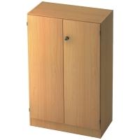 Schrank mit Holztüren, 2 Böden, Maße: 80x127x42cm, buche, Montageservice