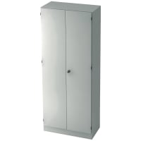 Schrank mit Holztüren, 4 Böden, Maße: 80x200,4x42cm, weiß, Montageservice