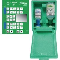 Augen-Notfallstation Plum 4789, Wandbox, 1x pH Neutral + 1x Augenspüllösung