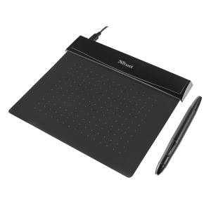 Tablet Trust 21259 Flex Design Grafiktablet, schwarz