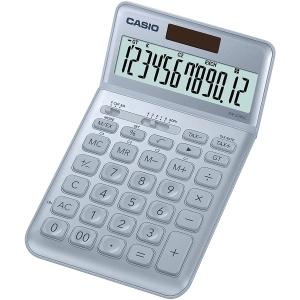 Tischrechner Casio JW-200SC, 12stellig, Solar-/Batteriebetrieb, hellblau