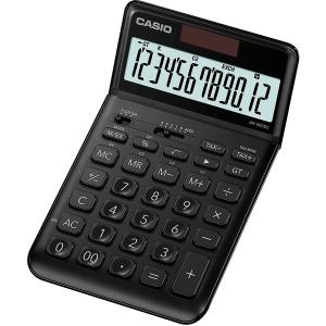 Tischrechner Casio JW-200SC, 12stellig, Solar-/Batteriebetrieb, schwarz